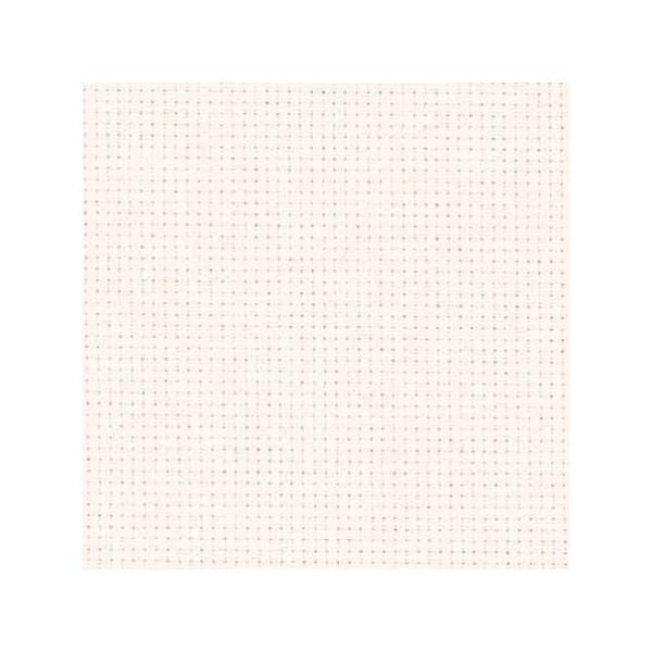 Aida 18 ct Stoff zum Sticken in der Farbe Weiß
