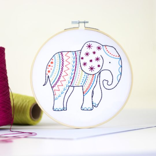 Elefant sticken Vorlage