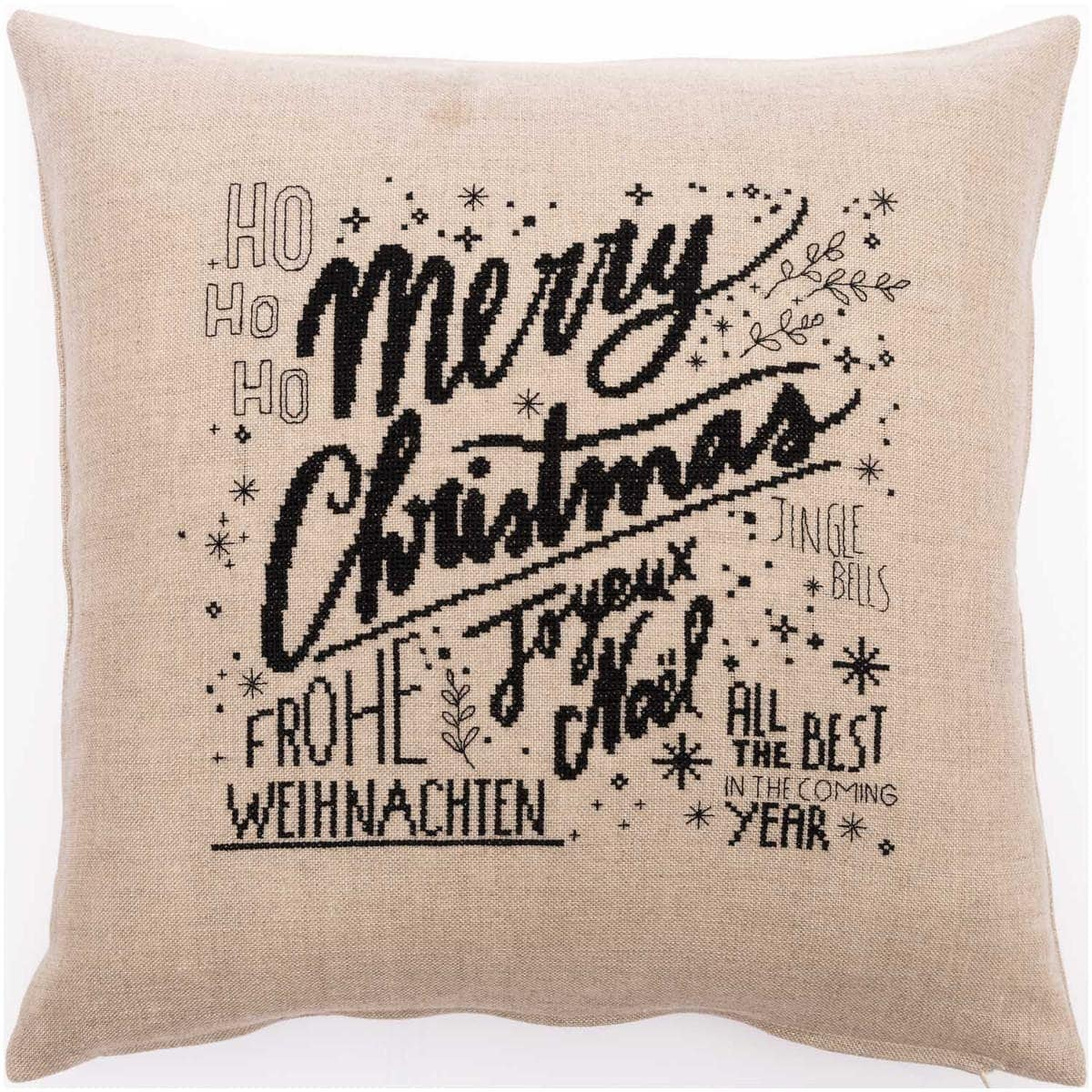 Kissen-Kreuzstich-Merry-Christmas - Zur Lila Pampelmuse