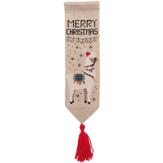 Stickpackung Lama für Weihnachten l Zur Lila Pampelmuse