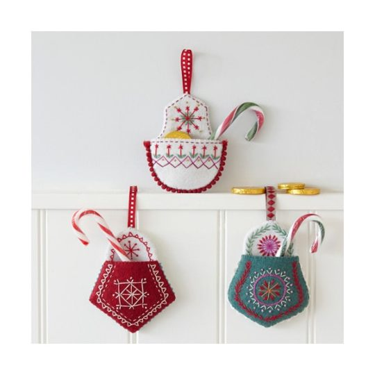 Weihnachtsdeko aus Filz besticken - Stickpackung l via Zur Lila Pampelmuse