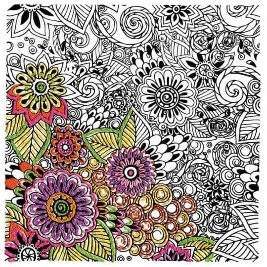 Blumen, Blüten, Blätter sticken, Malbuch l via Zur Lila Pampelmuse
