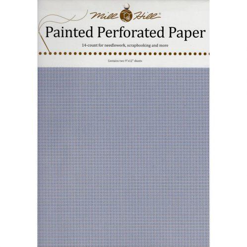 Papier mit Löchern zum Sticken in Hellblau l via Zur Lila Pampelmuse
