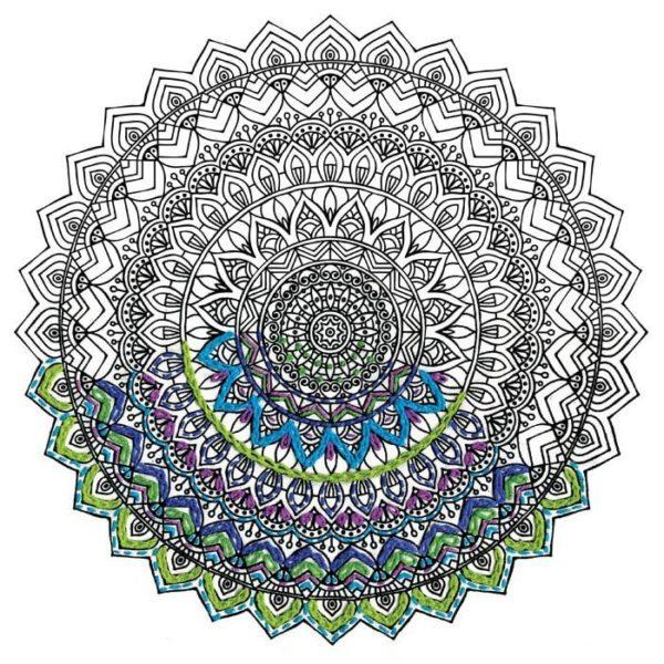 Mandala zum Aussticken statt Ausmalen, wie ein Malbuch für Erwachsene, nur zum Sticken l via Zur Lila Pampelmuse