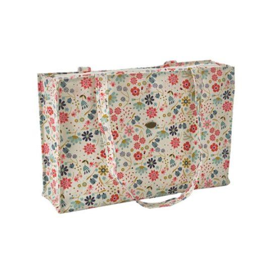 Tasche mit hübschem Blumen-Muster für Stick-Projekte l über Zur Lila Pampelmuse