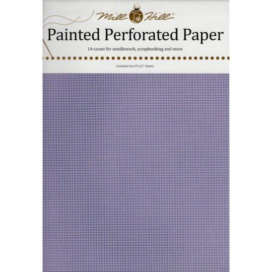 Papier mit Löchern zum Sticken in Lavendel bzw. Flieder l via Zur Lila Pampelmuse