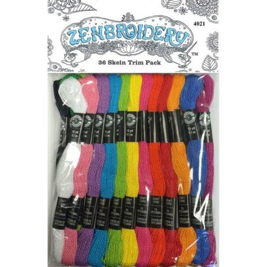 Stickgarn-Set mit 36 Farben, Perlen und Pailletten für Zenbroidery Projekte l via Zur Lila Pampelmuse