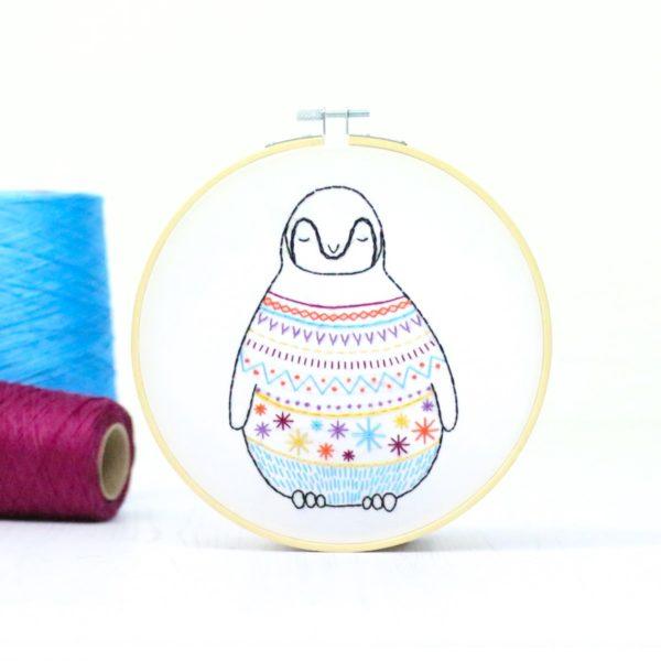 Baby Pinguin sticken l Stickpackung Anfänger l über Zur Lila Pampelmuse