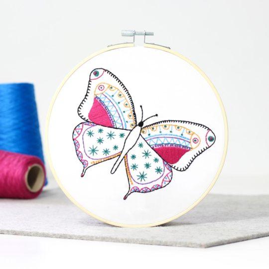 Schmetterling Stickpackung für Anfänger l über Zur Lila Pampelmuse