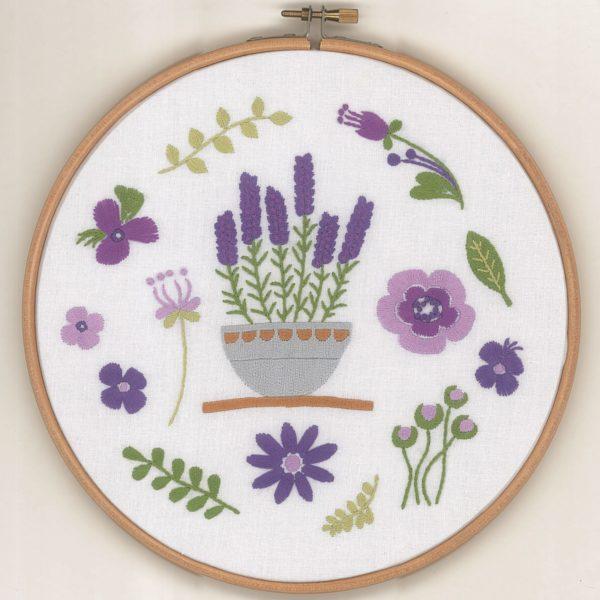 Hübschen Lavendel sticken mit lila Blüten l über Zur Lila Pampelmuse