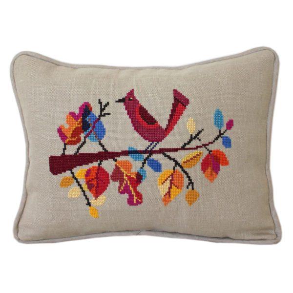 Herbstblätter und Vogel sticken | über Zur Lila Pampelmuse