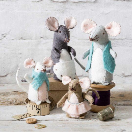 Filz Bastelset Mäuse nähen und sticken