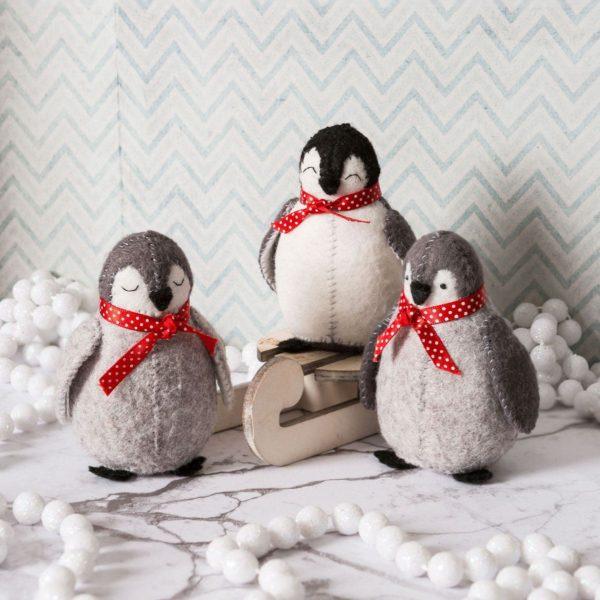 Filz Bastelset Weihnachten mit Pinguinen | über Zur Lila Pampelmuse