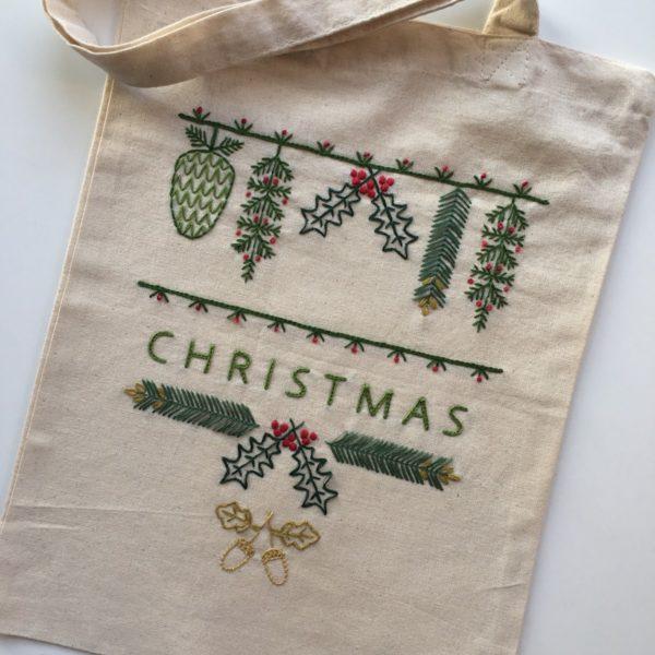 Stickpackung Stoffbeutel Weihnachten | über Zur Lila Pampelmuse