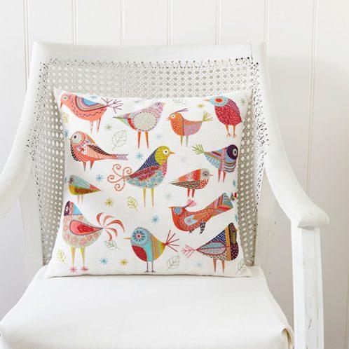 Stickpackung Vögel im Folklore Stil | über Zur Lila Pampelmuse