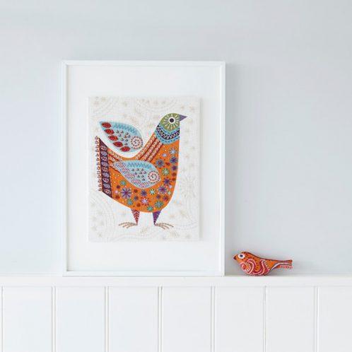 Stickpackung Vogel im Folklore Stil   über Zur Lila Pampelmuse