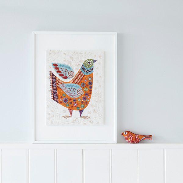Stickpackung Vogel im Folklore Stil | über Zur Lila Pampelmuse