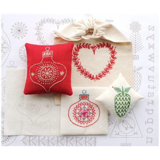 Stickvorlage Weihnachten Motive zum Aufbügeln | über Zur Lila Pampelmuse