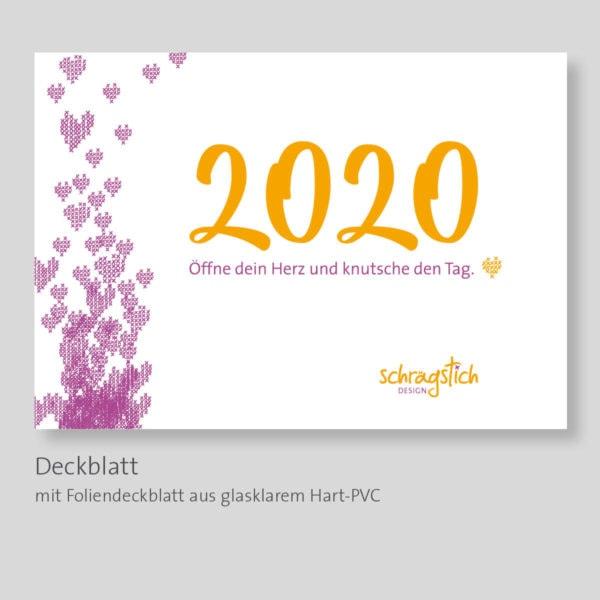 12 Kreuzstich Stickmuster im Kalender 2020 von Schrägstich   über Zur Lila Pampelmuse