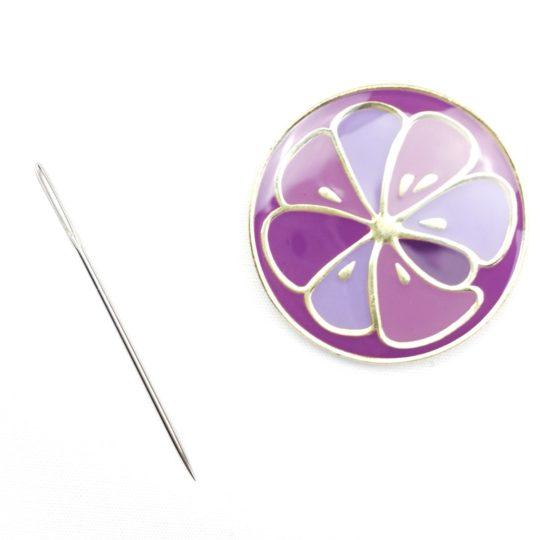 Needleminder bzw. Nadelmagnet fürs Sticken in Lila | über Zur Lila Pampelmuse