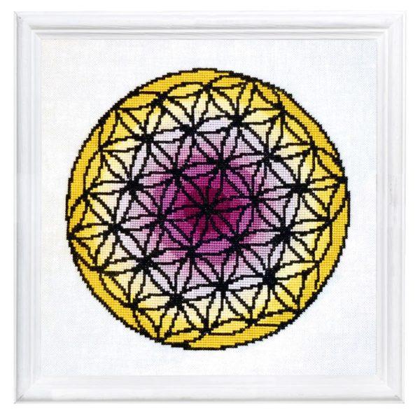 Mandala Blume des Lebens - Kreuzstich sticken | über Zur Lila Pampelmuse