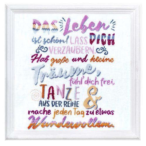 Wunderschönen Spruch im Stil eines modernen Typografie Posters sticken | über Zur Lila Pampelmuse