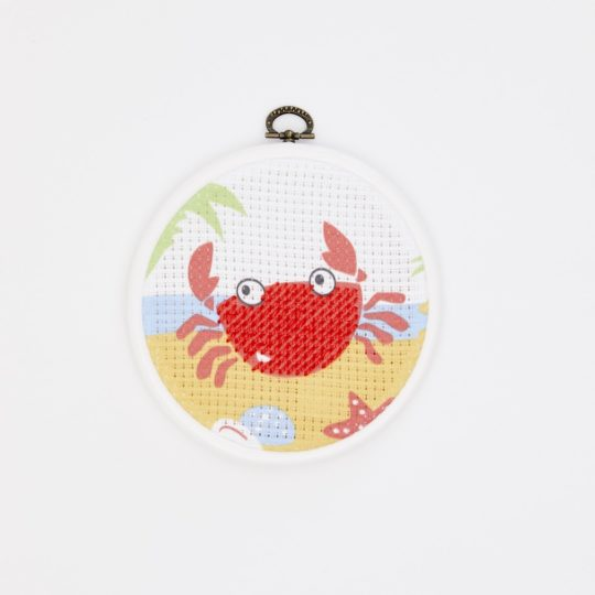 Lustige Krabbe sticken: Für Kinder ab 6 Jahren | über Zur Lila Pampelmuse
