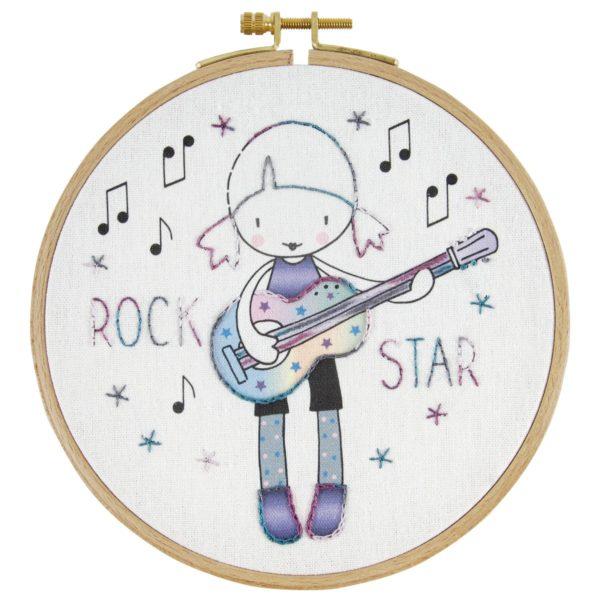 Rockstar sticken: Set für Kinder ab 8 Jahren | über Zur Lila Pampelmuse
