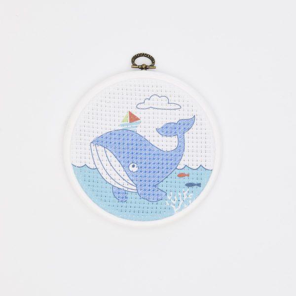 Blauen Wal sticken: Für Kinder ab 6 Jahren | über Zur Lila Pampelmuse