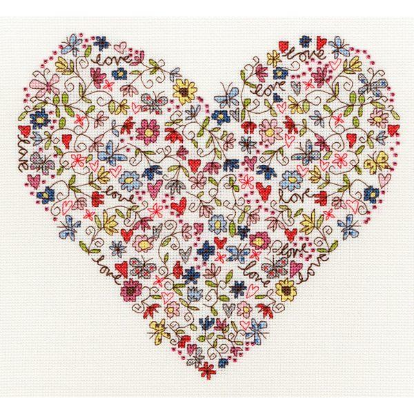 Love Heart - Liebesherz - von Bothy Threads im Kreuzstich sticken | über Zur Lila Pampelmuse