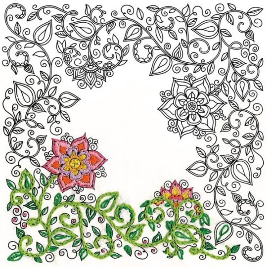 Garten sticken: Stickvorlage einfach aussticken | über Zur Lila Pampelmuse