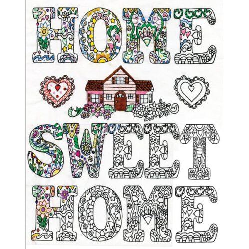 Spruch Home sweet home sticken - Stickpackung über Zur Lila Pampelmuse
