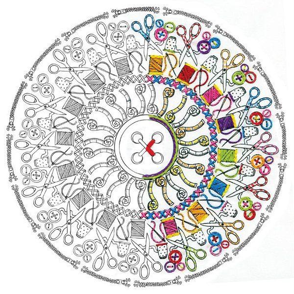 Mandala rund ums Sticken und Nähen über Zur Lila Pampelmuse