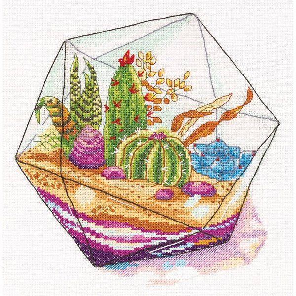 Kakteen und Sukkulenten im Glas-Terrarium | über Zur Lila Pampelmuse