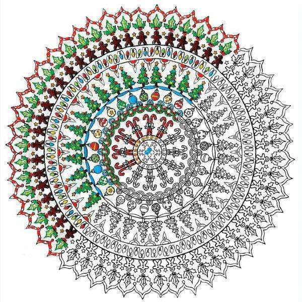 Mandala zu WEihnachten sticken: Mit vielen süßen Motiven | über Zur Lila Pampelmuse