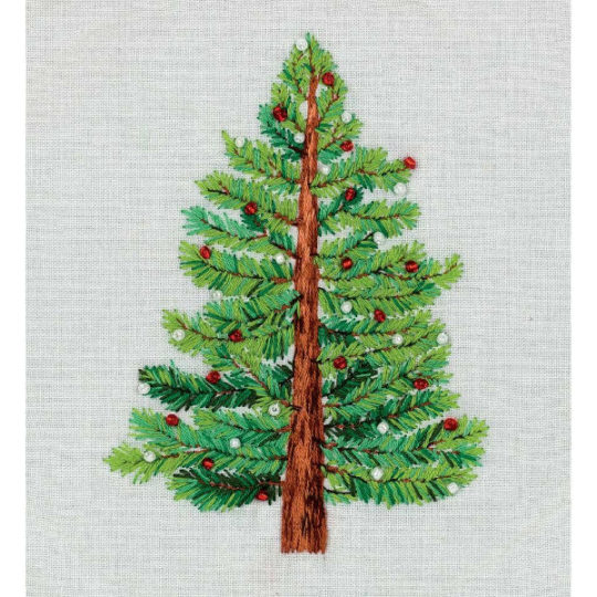 Natürlichen Weihnachtsbaum sticken | Stickpackung über Zur Lila Pampelmuse