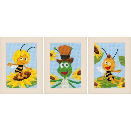 Kreuzstich Baby: Biene Maja, Willi, Flip & Sonnenblumen sticken | über Zur Lila Pampelmuse