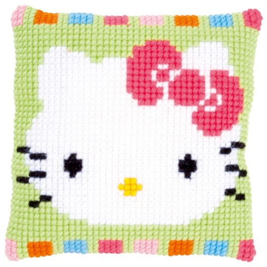Kreuzstich Baby: Hello Kitty Kissen in Pastelltönen sticken | über Zur Lila Pampelmuse