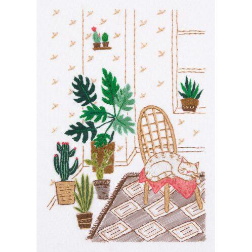 Pflanzen sticken mit Teppich, Katze & Co. | über Zur Lila Pampelmuse