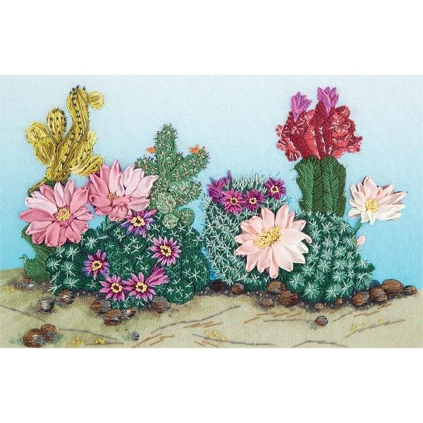 Blühende Kakteen in der Wüste sticken | über Zur Lila Pampelmuse