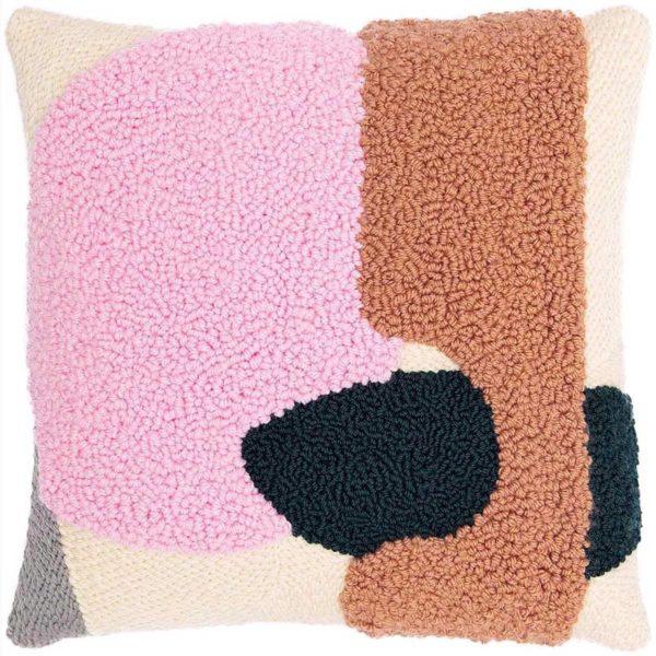 Punch Needle Kissen in Bonbonrosa von Rico Design mit komplettem Zubehör | über Zur Lila Pampelmuse