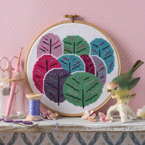 Bäume im Frühling sticken: Stickset für Kreuzstich | über Zur Lila Pampelmuse
