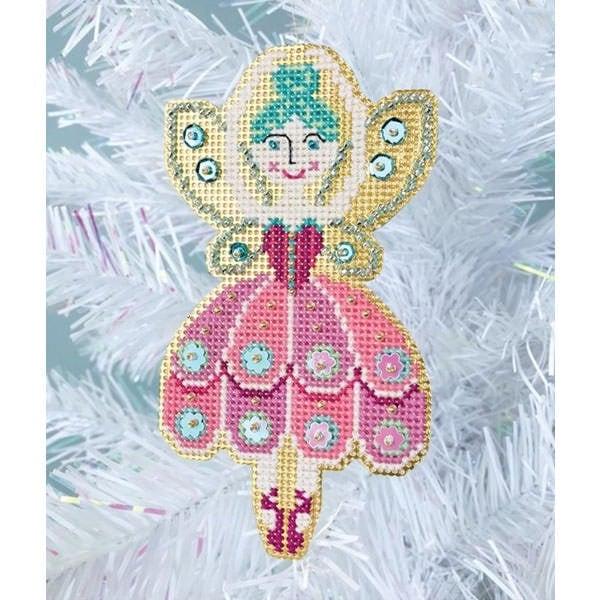 Stickset für einen Weihnachtsbaumanhänger mit Zucker-Fee Figur im Kreuzstich | über Zur Lila Pampelmuse