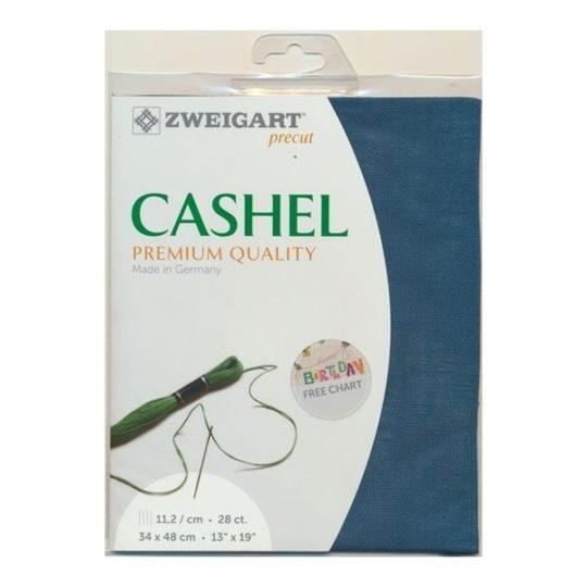 Leinen von Zweigart - Cashel 5153 petrol grün - Stoff zum Sticken | über Zur Lila Pampelmuse